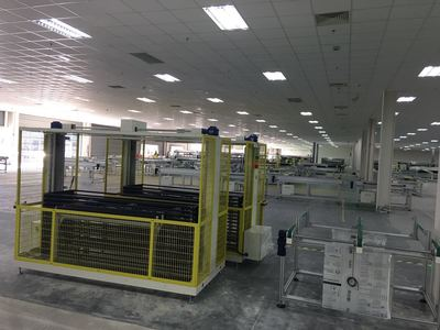 Longi (Kuching) 600MW cell workshop, monocrystalli